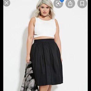 Forever 21 plus 1x black a-line skirt